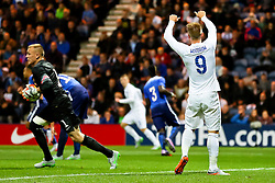 Cauley Woodrow of England U21 gives a thumbs up to Matt Targett  - Mandatory byline: Matt McNulty/JMP - 07966386802 - 03/09/2015 - FOOTBALL - Deepdale Stadium -Preston,England - England U21 v USA U23 - U21 International