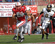 University of Nebraska linebacker Bo Ruud (51) returns a Missouri interception in the first half at Memorial Stadium in Lincoln, Nebraska, November 4, 2006.  The Huskers defeated the Tigers 34-20.<br />
