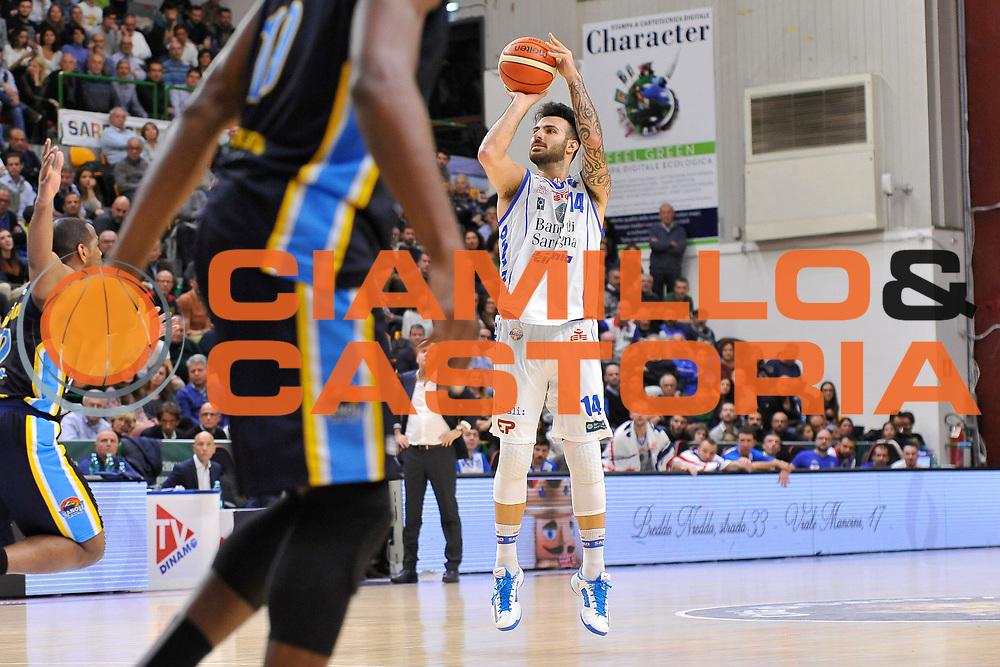 Brian Sacchetti<br /> Banco di Sardegna Dinamo Sassari - Vanoli Cremona<br /> LegaBasket Serie A LBA Poste Mobile 2016/2017<br /> Sassari 26/11/2016<br /> Foto Ciamillo-Castoria