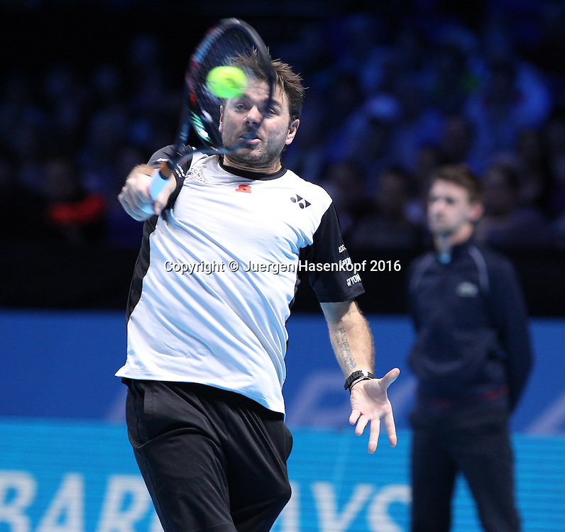 STAN WAWRINKA (SUI), ATP World Tour Finals, O2 Arena, London, England.<br /> <br /> Tennis - ATP World Tour Finals 2016 - ATP -  O2 Arena - London -  - Great Britain  - 14 November 2016. <br /> &copy; Juergen Hasenkopf/Grieves