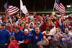 The United States men's soccer team defeated the Mexican national team 2-0 in CONCACAF final group qualifying for the 2010 World Cup at Columbus Crew Stadium in Columbus, Ohio on February 11, 2009.