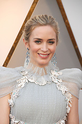 March 5, 2018 - Los Angeles, California, USA - 3/4/18.Emily Blunt at the 90th Annual Academy Awards (Oscars) presented by the Academy of Motion Picture Arts and Sciences..(Hollywood, CA, USA) (Credit Image: © Starmax/Newscom via ZUMA Press)
