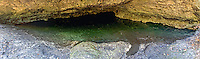 A sinkhole just outside of Tallahassee, Fl. This big water-filled cave pano is made up of 7 photos stitched together!