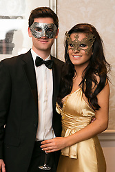 01 November 2013 Shane Nolan and Jessica Pritzel pictured at the Irish Cancer Society Masquerade Ball in the Shelbourne Hotel. For more information or to support the Irish Cancer Society please visit www.cancer.ie . Picture Andres Poveda