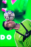 Pro Football Freestyle Athlete Javier Sanz during the presentation of the new Adidas shoes ACE 16 at the 1v1 tournament to find the boss of Madrid at the Museo del Ferrocarril in Madrid, March 09, 2016. (ALTERPHOTOS/BorjaB.Hojas)