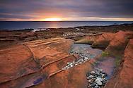 Sandstone Rocks and coastline near Corriew, Isle of Arran, Scotland