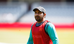 Pakistan captain Sarfraz Ahmed during the nets session at Lord's, London.