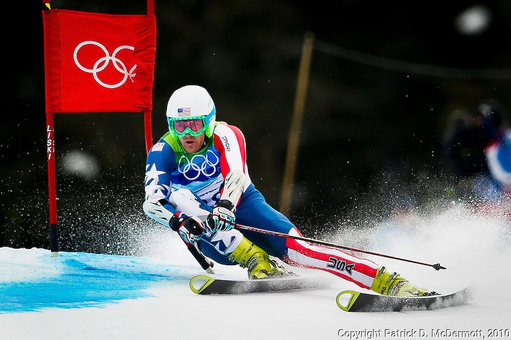 Jake Zamansky, USA, competes in the Men's Giant Slalom during the 2010 Vancouver Winter Olympics in Whistler, British Columbia, Tuesday, Feb. 23, 2010.