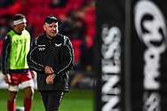 Scarlets' Head Coach Wayne Pivac during the pre match warm up<br /> <br /> Photographer Craig Thomas/Replay Images<br /> <br /> Guinness PRO14 Round 13 - Scarlets v Dragons - Friday 5th January 2018 - Parc Y Scarlets - Llanelli<br /> <br /> World Copyright &copy; Replay Images . All rights reserved. info@replayimages.co.uk - http://replayimages.co.uk