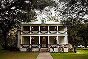 Richfield Plantation decorated for Christmas in Yemassee, South Carolina. Gen. Sherman used the plantation house as his headquarters during the civil war, as a result, it was one of the few plantation houses not burned by the union army during the war.