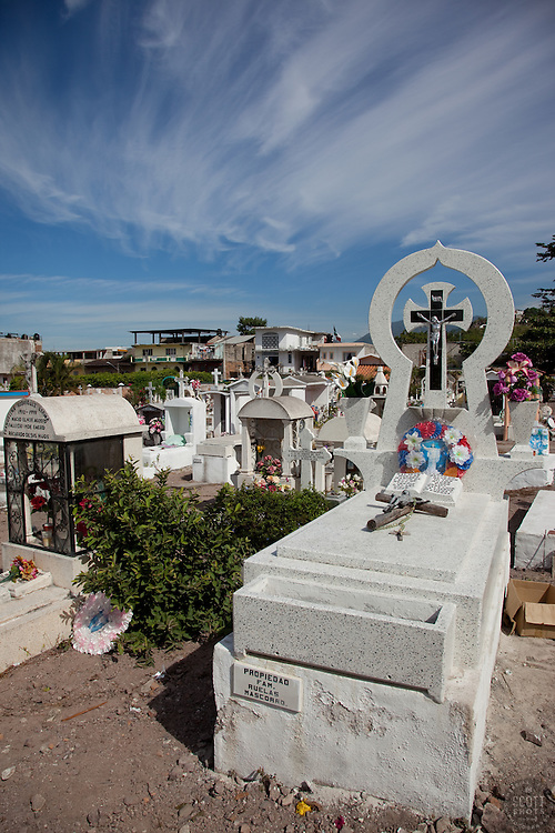 Mexican Cemetery 11 - Photograph taken in El Panteón Cementario, also know as Cementario Viejo or old cemetery, in Puerto Vallarta, Mexico.