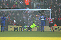 Football - 2016 / 2017 Premier League - Southampton vs. Leicester City<br /> <br /> Southampton's Dusan Tadic scores past Kasper Schmeichel of Leicester City from the penalty spot at St Mary's Stadium Southampton England<br /> <br /> COLORSPORT/SHAUN BOGGUST