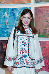 Lady Frederick Windsor at a preview of an exhibition of art by Sassan Behnam-Bakhtiar entitled 'Oneness Wholeness' held at the Saatchi Gallery, Duke of York's HQ, King's Rd, London, England. 14 May 2018.