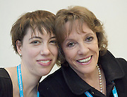 """Conservative Party Conference, ICC, Birmingham, Great Britain <br /> Day 1<br /> 7th October 2012 <br /> <br /> Esther Rantzen <br /> speaking at fringe meeting <br /> WRVS """"Do older people have a voice in Today's Britain""""<br /> <br /> with her daughter Miriam <br /> <br /> <br /> Photograph by Elliott Franks<br /> <br /> Tel 07802 537 220 <br /> elliott@elliottfranks.com<br /> <br /> ©2012 Elliott Franks<br /> Agency space rates apply"""