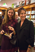 ALBA ARIKHA; AOIFE O'BRIEN Alba Arikha  book launch for 'Soon' , Daunt's Holland Park.. London. 17 September 2013.