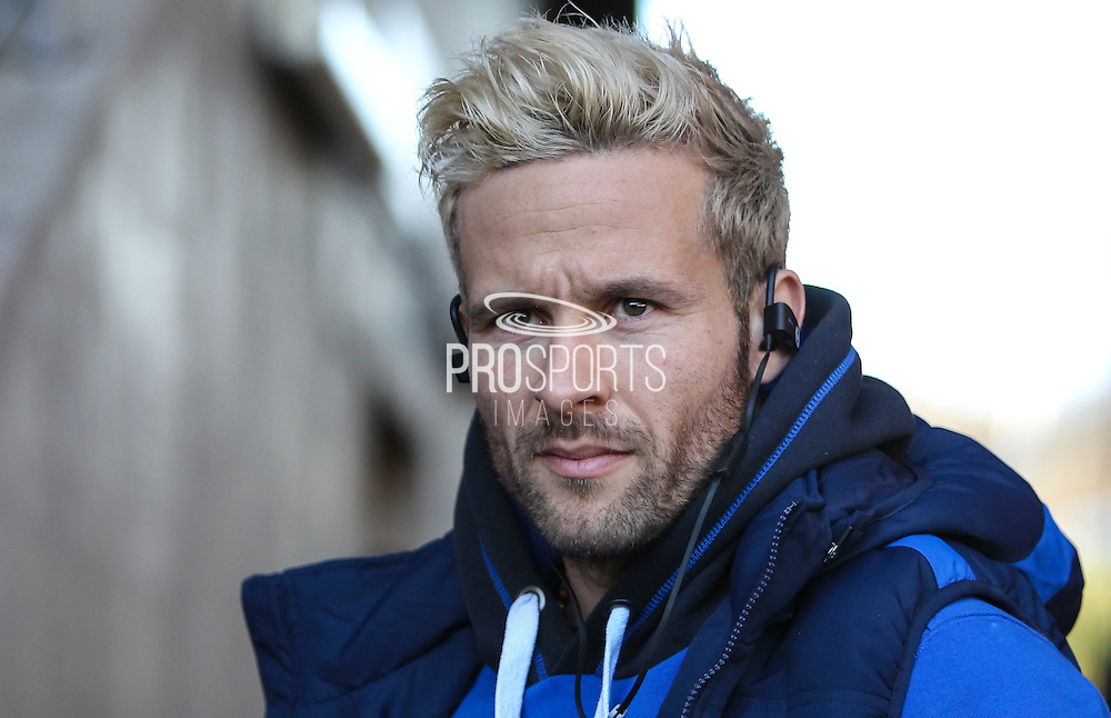 Yohan Cabaye of Crystal Palace arrives before the Premier League match between Swansea City and Crystal Palace at the Liberty Stadium, Swansea, Wales on 26 November 2016. Photo by Andrew Lewis.