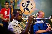 Jazz performance at the Spotted Cat in New Orleans