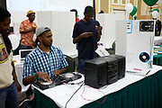 OU Electronic Music Collective spinning some tunes.