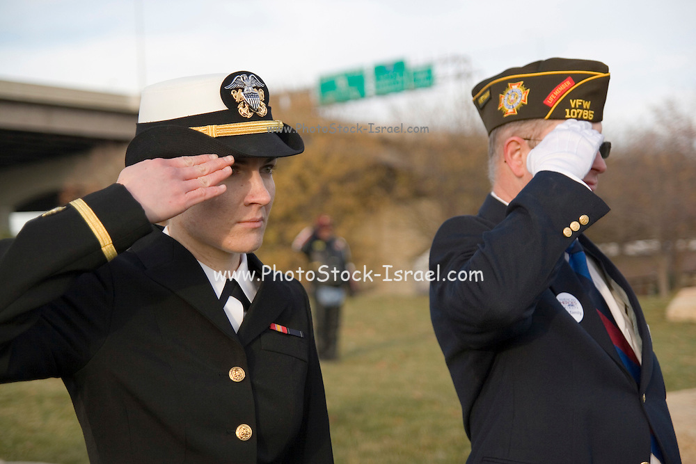 Nebraska NE USA, A Veterans day ceremony at Omaha, NE.