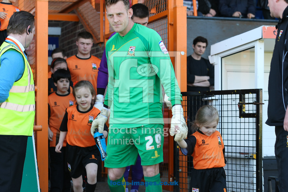 "Picture by David Horn/Focus Images Ltd +44 7545 970036.20/04/2013.Barnet players exit the tunnel for thr start of their last game at ""Underhill Stadium before the npower League 2 match at Underhill Stadium, London."