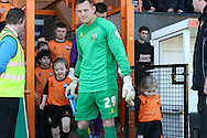"""Picture by David Horn/Focus Images Ltd +44 7545 970036.20/04/2013.Barnet players exit the tunnel for thr start of their last game at """"Underhill Stadium before the npower League 2 match at Underhill Stadium, London."""