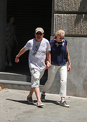 EXCLUSIVE: Michael J. Fox visiting Barcelona witH wife Tracy, son Sam Michael and daughters Aquinnah Kathleen , Schuyler Frances and Esme Annabelle. After a family lunch, the group visit the famous Guell Park. 18 Jun 2017 Pictured: Michael J Fox. Photo credit: MEGA TheMegaAgency.com +1 888 505 6342