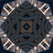 Urban kaleidoscope of abstract of shapes, textures, patterns and design.