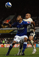 Photo: Ashley Pickering/Sportsbeat Images.<br /> Ipswich Town v Barnsley. Coca Cola Championship. 01/12/2007.<br /> Danny Haynes of Ipswich (L) holds off Dominic Werling of Barnsley
