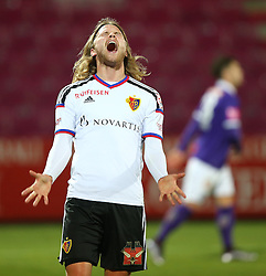 29.01.2016, Generali Arena, Wien, AUT, Testspiel, FK Austria Wien vs FC Basel, im Bild Birkir Bjarnason (FC Basel) // during a preperation Football Match between FK Austria Wien vs FC Basel at the Generali Arena in Vienna, Austria on 2016/01/29. EXPA Pictures © 2016, PhotoCredit: EXPA/ Thomas Haumer