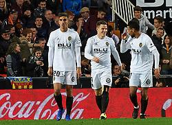November 24, 2018 - Valencia, Valencia, Spain - Valencia CF players celebrates a goal during the La Liga match between Valencia CF and Rayo Vallecano at Mestalla Stadium on November 24, 2018 in Valencia, Spain (Credit Image: © AFP7 via ZUMA Wire)