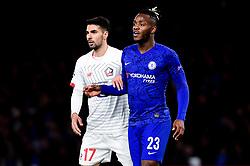 Zeki Celik of Lille marks Michy Batshuayi of Chelsea - Mandatory by-line: Ryan Hiscott/JMP - 10/12/2019 - FOOTBALL - Stamford Bridge - London, England - Chelsea v Lille - UEFA Champions League group stage