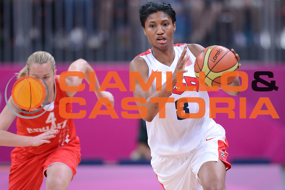DESCRIZIONE : London Londra Olympic Games Olimpiadi 2012 Women Preliminary Round USA Croatia Usa Croazia<br /> GIOCATORE : Angel McCoughtry<br /> CATEGORIA : Palleggio<br /> SQUADRA : Usa<br /> EVENTO : Olympic Games Olimpiadi 2012<br /> GARA : USA Croatia Usa Croazia<br /> DATA : 28/07/2012 <br /> SPORT : Pallacanestro <br /> AUTORE : Agenzia Ciamillo-Castoria/GiulioCiamillo<br /> Galleria : London Londra Olympic Games Olimpiadi 2012 <br /> Fotonotizia : London Londra Olympic Games Olimpiadi 2012 Women Preliminary Round USA Croatia Usa Croazia<br /> Predefinita :