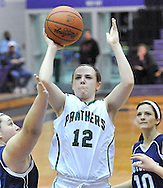 Elyria Catholic vs Rootstown girls basketball on February 26, 2013. Images © David Richard and may not be copied, posted, published or printed without permission.
