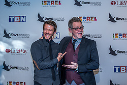 October 11, 2016 - Nashville, Tennessee, USA - Mike Donahey from Tenth Avenue North and Steven Curtis Chapman at the 47th Annual GMA Dove Awards  in Nashville, TN at Allen Arena on the campus of Lipscomb University.  The GMA Dove Awards is an awards show produced by the Gospel Music Association. (Credit Image: © Jason Walle via ZUMA Wire)