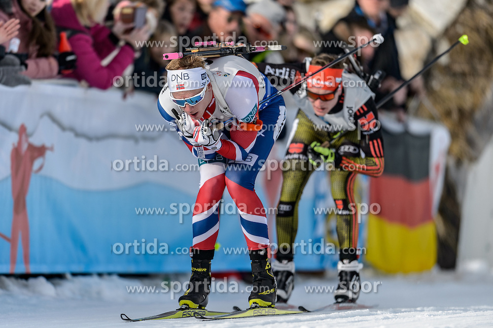 12.02.2017, Biathlonarena, Hochfilzen, AUT, IBU Weltmeisterschaften Biathlon, Hochfilzen 2017, Verfolgung Herren, im Bild Johannes Thingnes Boe (NOR) // Johannes Thingnes Boe of Norway during Mens pursuit of the IBU Biathlon World Championships at the Biathlonarena in Hochfilzen, Austria on 2017/02/12. EXPA Pictures © 2017, PhotoCredit: EXPA/ Stefan Adelsberger