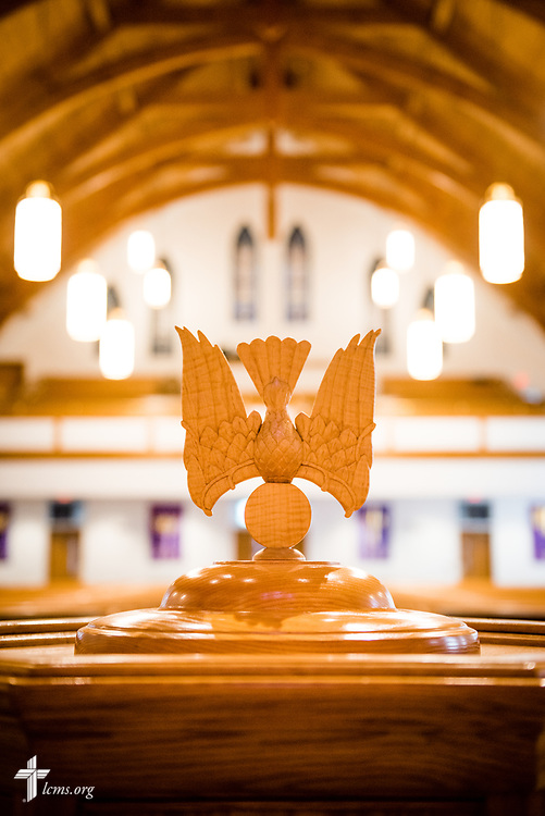 The baptismal font at St. John's Lutheran Church, Conover, N.C, on Friday, April 21, 2017. LCMS Communications/Erik M. Lunsford