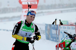 11.12.2011, Biathlonzentrum, Hochfilzen, AUT, E.ON IBU Weltcup, 2. Biathlon, Hochfilzen, Staffel Damen, im Bild Neuner Magdalena (Team GER) kommt ins ziel // during Team Relay E.ON IBU World Cup 2th Biathlon, Hochfilzen, Austria on 2011/12/11. EXPA Pictures © 2011. EXPA Pictures © 2011, PhotoCredit: EXPA/ nph/ Straubmeier..***** ATTENTION - OUT OF GER, CRO *****
