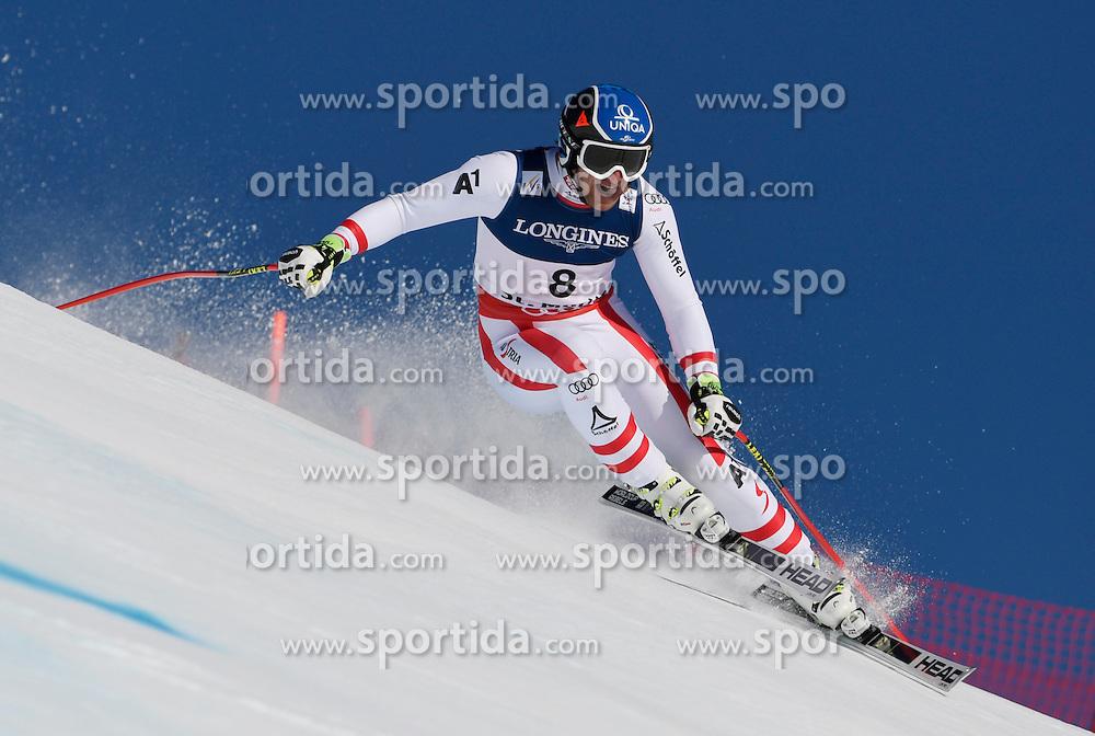 13.02.2017, St. Moritz, SUI, FIS Weltmeisterschaften Ski Alpin, St. Moritz 2017, alpine Kombination, Herren, Abfahrt, im Bild Matthias Mayer (AUT) // Matthias Mayer of Austria in action during his run of downhill for the men's Alpine combination of the FIS Ski World Championships 2017. St. Moritz, Switzerland on 2017/02/13. EXPA Pictures &copy; 2017, PhotoCredit: EXPA/ Sammy Minkoff<br /> <br /> *****ATTENTION - OUT of GER*****