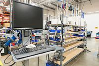 Desktop computer in manufacturing industry