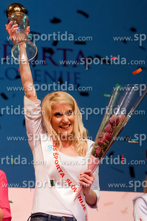 Klara Kroselj Miss Sports of Slovenia 2013, on April 20, 2013, in Festivalna dvorana, Ljubljana, Slovenia. (Photo by Urban Urbanc / Sportida.com)