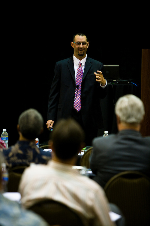 David Callanan speaks at the Advisors Event in Overland Park, KS.