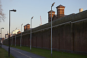The perimiter wall of HMP Wormwood Scrubs
