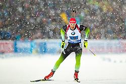 March 16, 2019 - –Stersund, Sweden - 190316 Rök Trsan of Slovenia competes in the Men's 4x7,5 km Relay during the IBU World Championships Biathlon on March 16, 2019 in Östersund..Photo: Johan Axelsson / BILDBYRÃ…N / Cop 245 (Credit Image: © Johan Axelsson/Bildbyran via ZUMA Press)