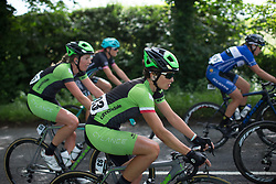 Malgorzata Jasinska (POL) of Cylance Pro Cycling rides mid-pack during Stage 3 of the OVO Energy Women's Tour - a 151 km road race, between Atherstone and Royal Leamington Spa on June 9, 2017, in Warwickshire, United Kingdom. (Photo by Balint Hamvas/Velofocus.com)