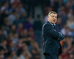 LONDON, ENGLAND - Saturday, September 20, 2014: West Ham United's manager Sam Allardyce during the Premier League match against Liverpool at Upton Park. (Pic by David Rawcliffe/Propaganda)
