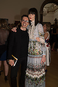 ERDEM MORALIOGLU; ERIN O'CONNOR, Royal Academy Summer exhibition party. Piccadilly. 7 June 2016