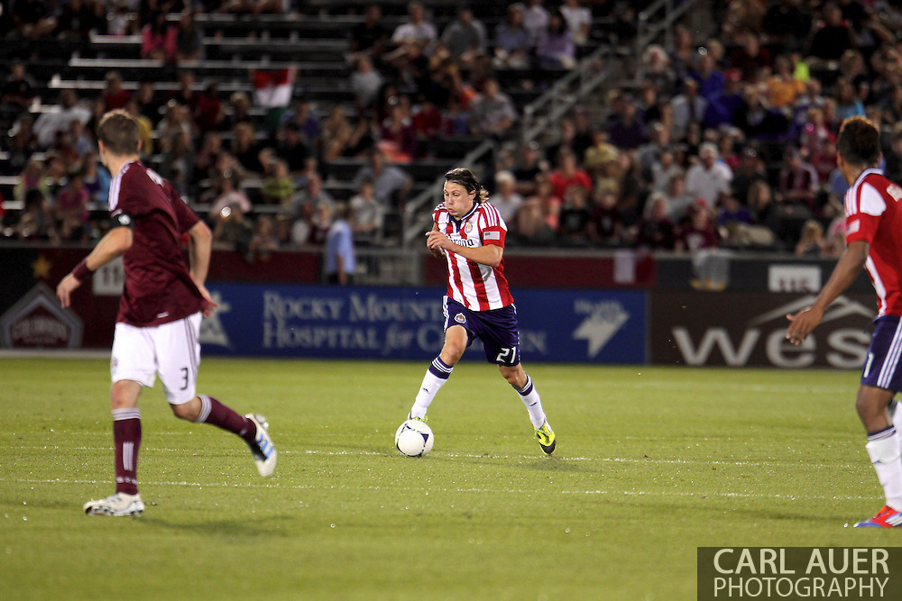 August 18th, 2012: Chivas USA midfielder Ben Zemanski (21) in the second half against the Colorado Rapids at Dick's Sporting Goods Park