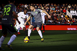 February 10, 2019 - Valencia, Spain - Asier Illarramendi  of Real Sociedad during  spanish La Liga match between Valencia CF v Real Sociedad at Mestalla Stadium on February 10, 2019. (Photo by Jose Miguel Fernandez/NurPhoto) (Credit Image: © Jose Miguel Fernandez/NurPhoto via ZUMA Press)