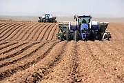 Farm machinery planting potatoes, near Hammer, Idaho.