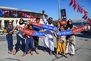 Fans arriving outside of the Vodafone Park Stadium Besiktas ahead of the Liverpool and Chelsea Training sessions ahead of the 2019 UEFA Super Cup Final between Liverpool FC and Chelsea FC at BJK Vodafone Park, Istanbul, Turkey on 13 August 2019.